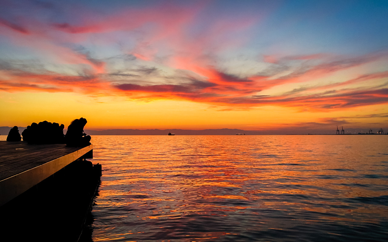 Thessaloniki seafront sunset