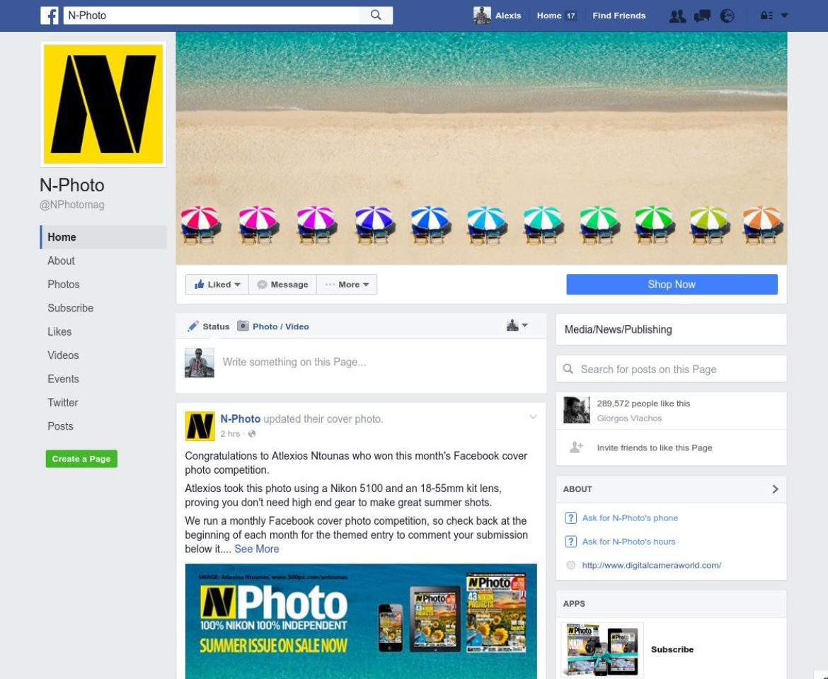 NPhoto Magazine Facebook Cover