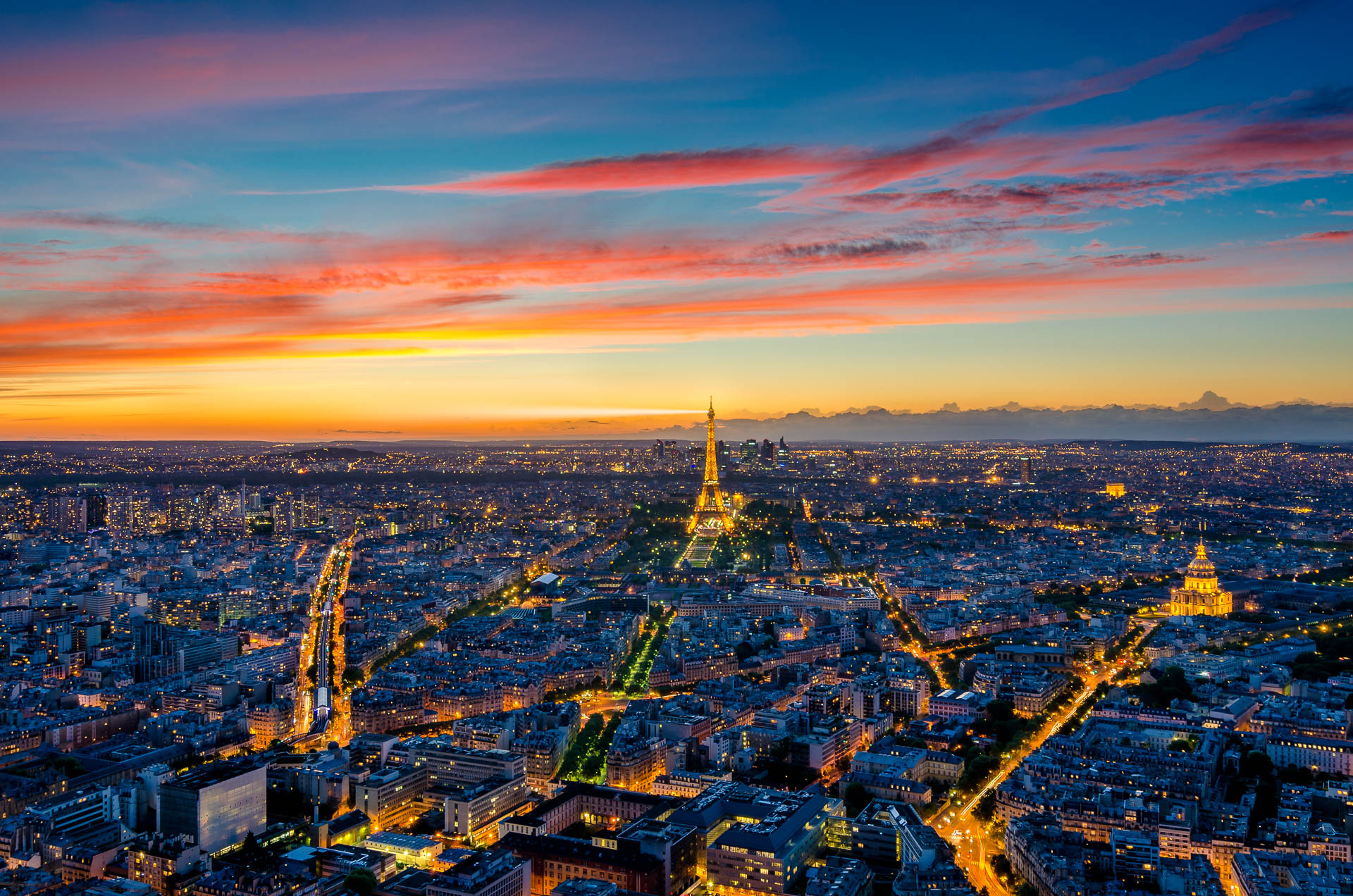Paris view from Montparnasse Tower