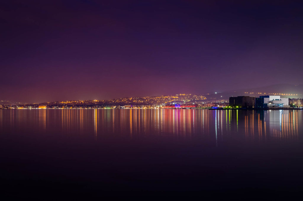 City of Thessaloniki at night