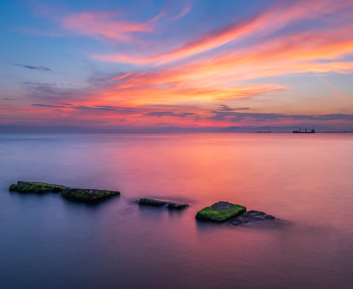 A colourful sunset in Thessaloniki