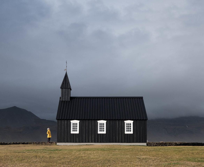 Black church of Budir in Iceland