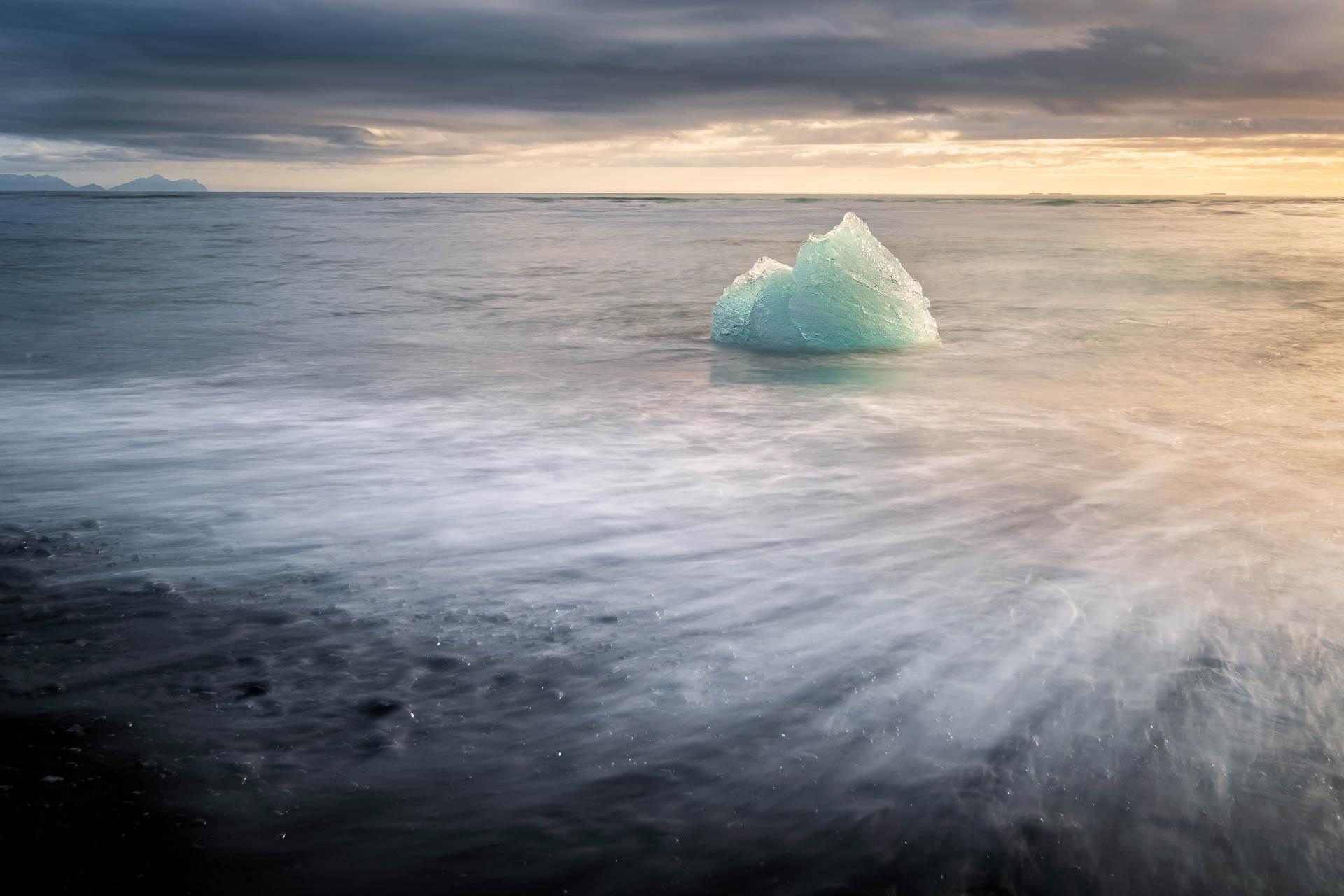Iceberg in Diamond Beach in Iceland