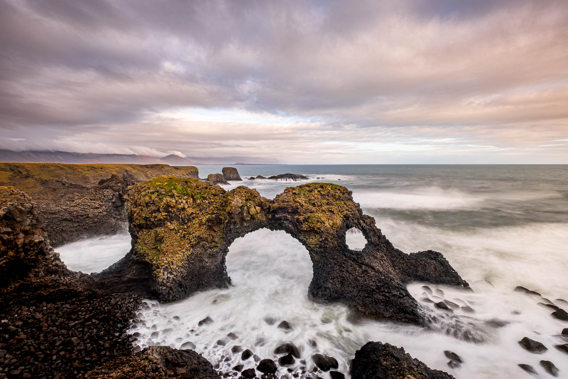 Gatklettur rock arch in Iceland