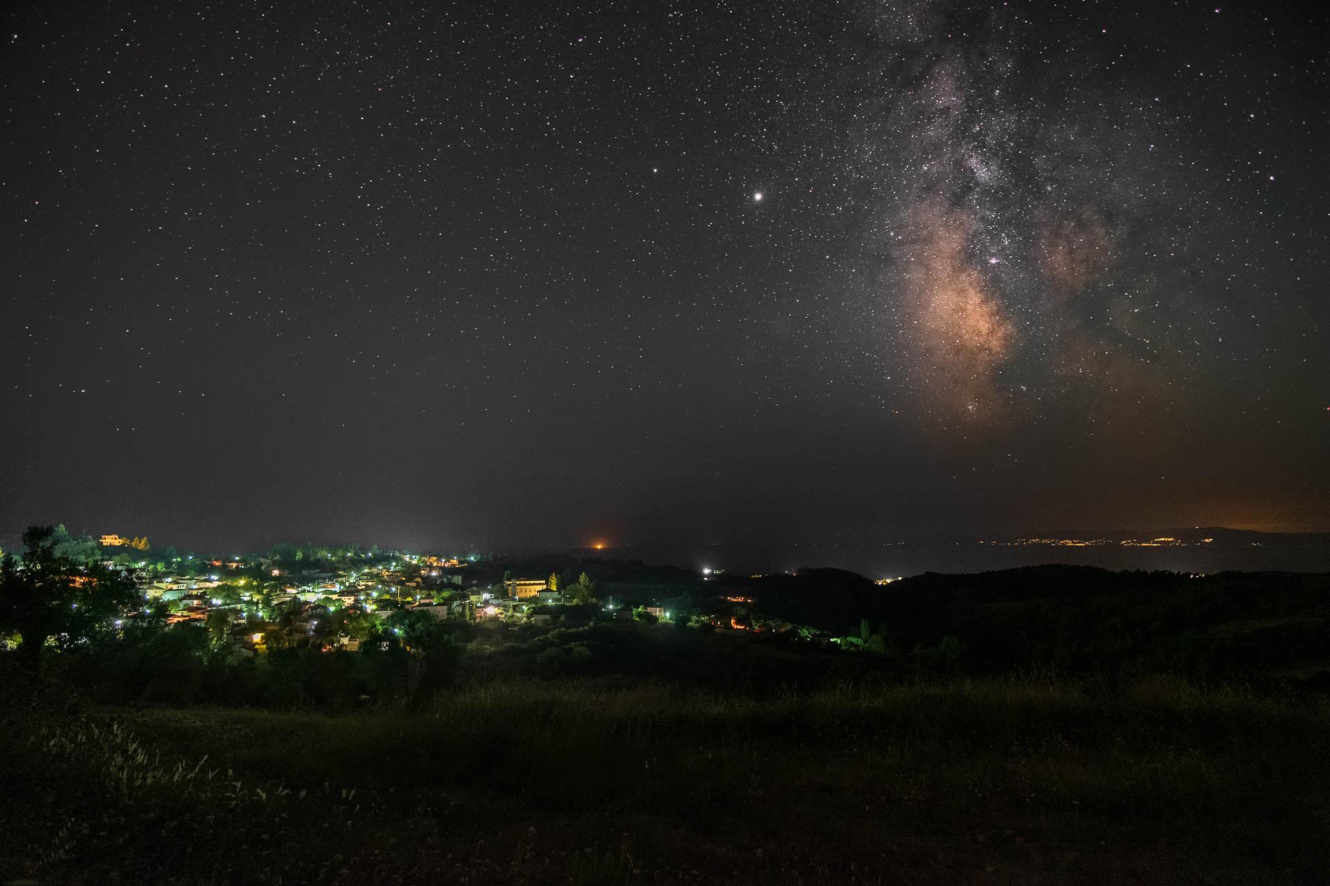 Milkyway over Agia Paraskevi in Chalkidiki