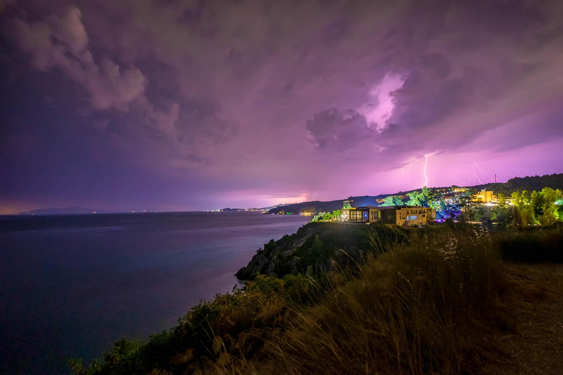 Thundestorm at Loutra Agias Paraskevis
